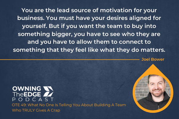 how to get a team to actually care about the business
